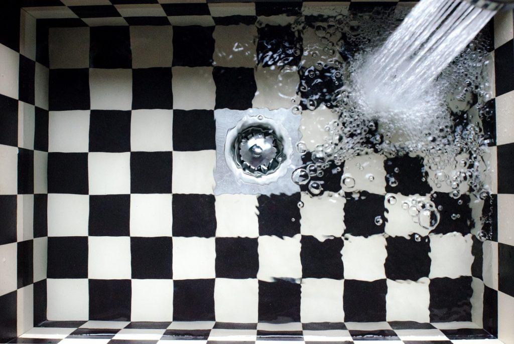 lavaggio sotto acqua corrente